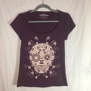 Threadless Tops - Threadless Girly Sugar Skull Tee Shirt Size XL